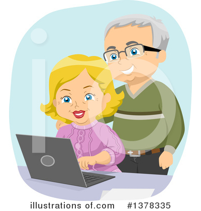 Senior Couple Clipart #1378335 by BNP Design Studio