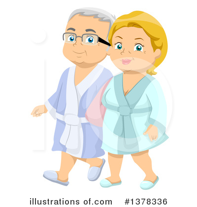 Senior Couple Clipart #1378336 by BNP Design Studio