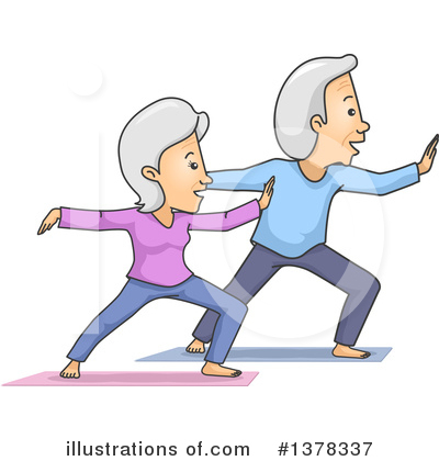 Senior Couple Clipart #1378337 by BNP Design Studio
