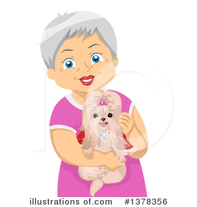 Senior Woman Clipart #1378356 by BNP Design Studio