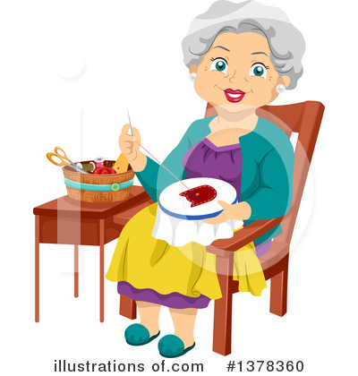 Senior Woman Clipart #1378360 by BNP Design Studio