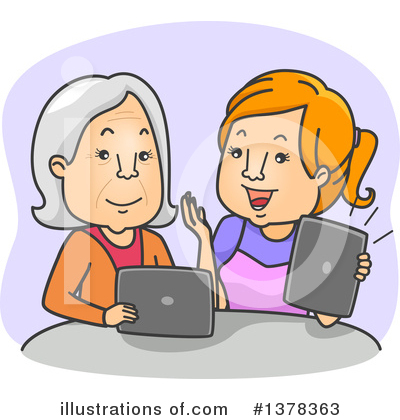 Senior Woman Clipart #1378363 by BNP Design Studio