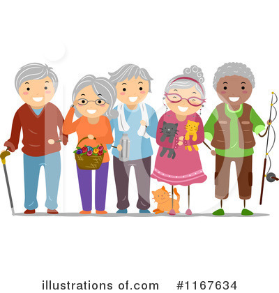 Old People Clipart #1167634 by BNP Design Studio