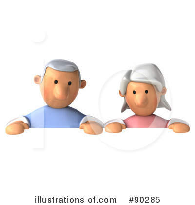 Senior Couple Clipart #90285 by Julos