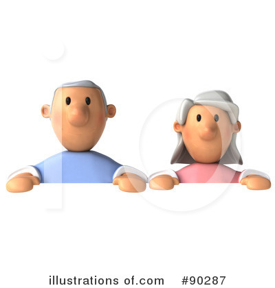 Senior Couple Clipart #90287 by Julos