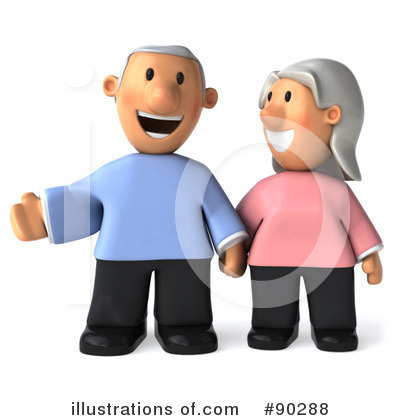 Senior Couple Clipart #90288 by Julos