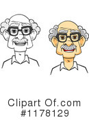 Senior Man Clipart #1178129 by Vector Tradition SM