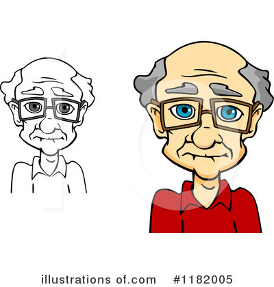 Senior Man Clipart #1182005 by Vector Tradition SM