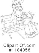 Senior Man Clipart #1184056 by Alex Bannykh