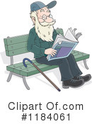 Senior Man Clipart #1184061 by Alex Bannykh