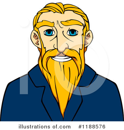 Senior Man Clipart #1188576 by Vector Tradition SM