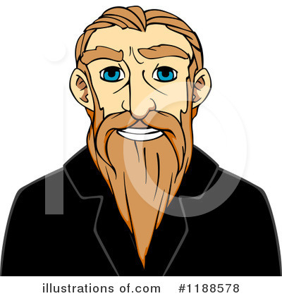 Senior Man Clipart #1188578 by Vector Tradition SM