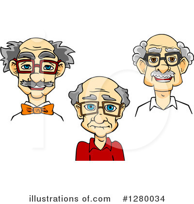 Senior Man Clipart #1280034 by Vector Tradition SM