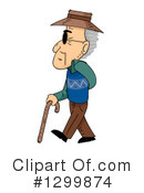 Senior Man Clipart #1299874 by BNP Design Studio