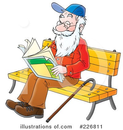 Reading Clipart #226811 by Alex Bannykh