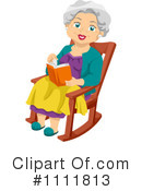 Royalty-Free (RF) senior woman Clipart Illustration #1111813