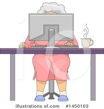 Senior Woman Clipart #1450103 by BNP Design Studio