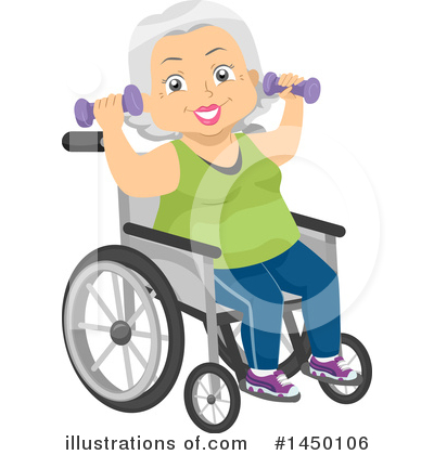 Senior Woman Clipart #1450106 by BNP Design Studio
