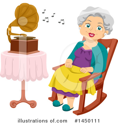 Senior Woman Clipart #1450111 by BNP Design Studio