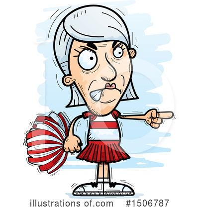 Cheerleader Clipart #1506787 by Cory Thoman