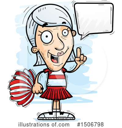Cheerleader Clipart #1506798 by Cory Thoman