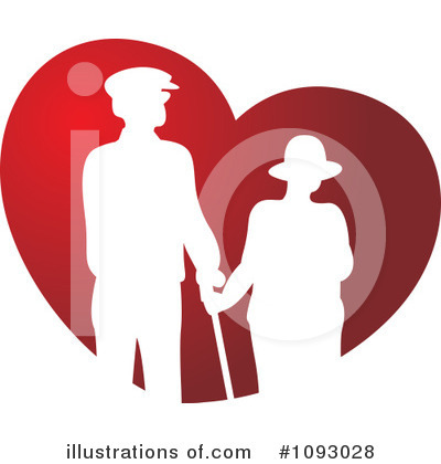 Old Couple Clipart #1093028 by Lal Perera