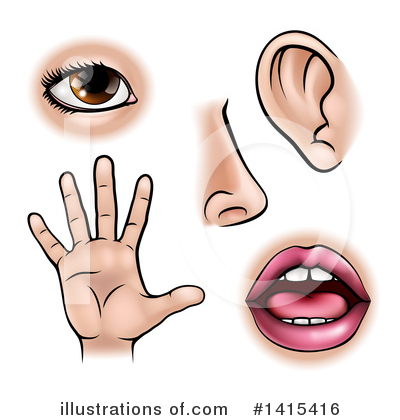 Five Senses Clipart #1415416 by AtStockIllustration
