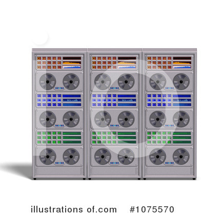 Royalty-Free (RF) Server Clipart Illustration by Ralf61 - Stock Sample #1075570