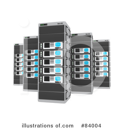 Royalty-Free (RF) Server Clipart Illustration by 3poD - Stock Sample #84004