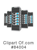 Royalty-Free (RF) Server Clipart Illustration #84004