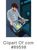 Royalty-Free (RF) Server Clipart Illustration #89598