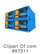 Royalty-Free (RF) Server Clipart Illustration #97311
