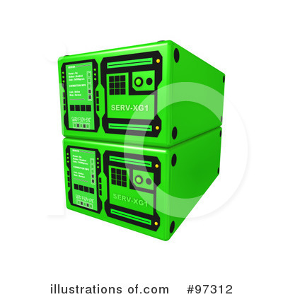 Royalty-Free (RF) Server Clipart Illustration by 3poD - Stock Sample #97312