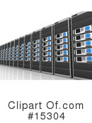 Royalty-Free (RF) Servers Clipart Illustration #15304