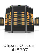 Royalty-Free (RF) Servers Clipart Illustration #15307