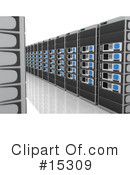 Royalty-Free (RF) Servers Clipart Illustration #15309