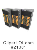 Servers Clipart #21381 by 3poD