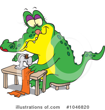 Alligator Clipart #1046820 by toonaday