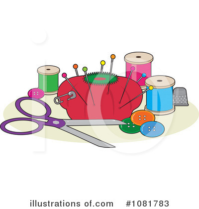 Sewing Clipart #1081783 by Maria Bell