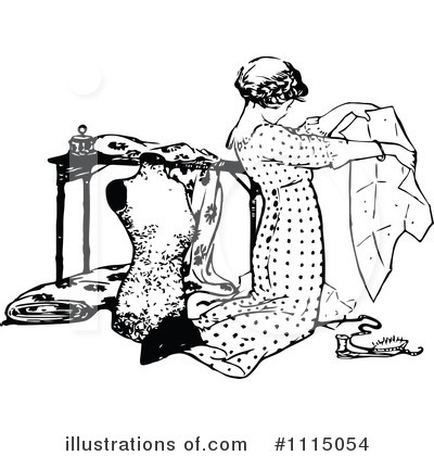 Royalty-Free (RF) Sewing Clipart Illustration by Prawny Vintage - Stock Sample #1115054