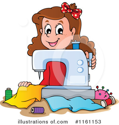 Royalty-Free (RF) Sewing Clipart Illustration by visekart - Stock Sample #1161153