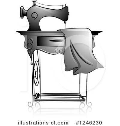 Sewing Machine Clipart #1246230 by BNP Design Studio