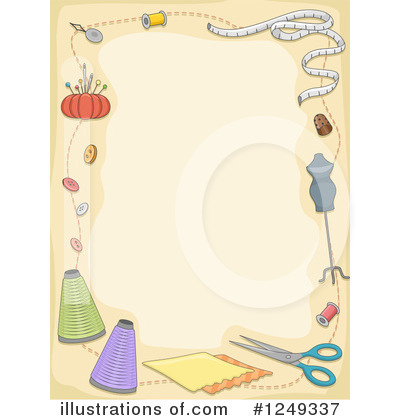 Royalty-Free (RF) Sewing Clipart Illustration by BNP Design Studio - Stock Sample #1249337