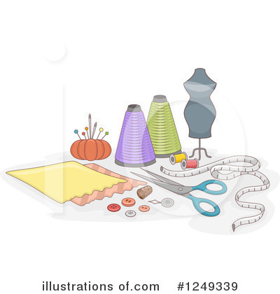 Royalty-Free (RF) Sewing Clipart Illustration by BNP Design Studio - Stock Sample #1249339