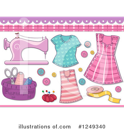 Royalty-Free (RF) Sewing Clipart Illustration by BNP Design Studio - Stock Sample #1249340