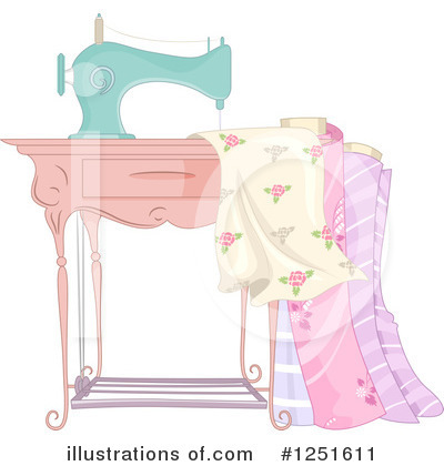 Royalty-Free (RF) Sewing Clipart Illustration by BNP Design Studio - Stock Sample #1251611