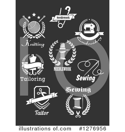 Sewing Clipart #1276956 by Vector Tradition SM