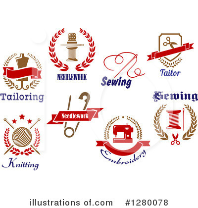 Knitting Clipart #1280078 by Vector Tradition SM