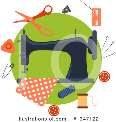 Sewing Clipart #1347122 by Vector Tradition SM