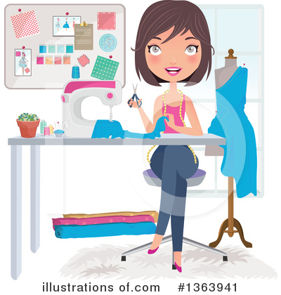 Woman Clipart #1363941 by Melisende Vector